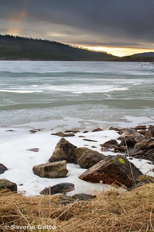 A frozen lake in Finland