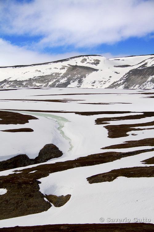 Thaw on Norwegian tundra