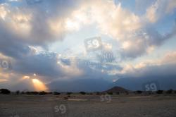 Alba sul deserto dell'Oman